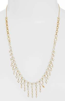 Nadri Crystal Fringe Necklace