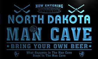 Dakota AdvPro Name qe2034-b North State Cities Man Cave Hockey Bar Neon Beer Light Sign