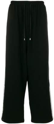 Unconditional wide tuxedo sweat pants