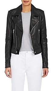 "Balenciaga Women's ""New"" Classic Moto Leather Jacket - Black"