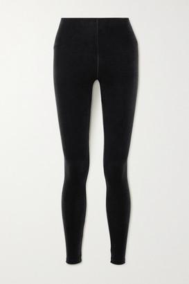 Commando Stretch-velvet Leggings - Black