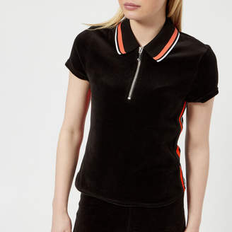 Juicy Couture Women's Stretch Velour Polo Shirt