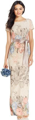 Adrianna Papell Floral-Print Column Gown $220 thestylecure.com