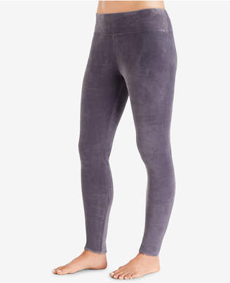 Cuddl Duds Double Plush Velour Wide-Waistband Leggings