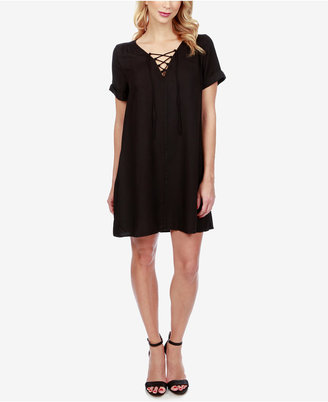 Lucky Brand Lace-Up Swing Dress $99 thestylecure.com