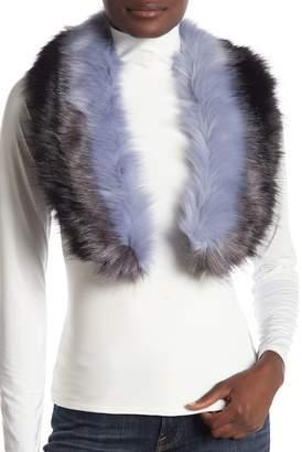 Modena Tri-Color Panel Faux Fur Scarf
