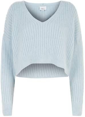 3.1 Phillip Lim V-Neck Cropped Sweater