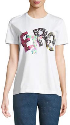 Etro Metallic Logo Cotton T-Shirt