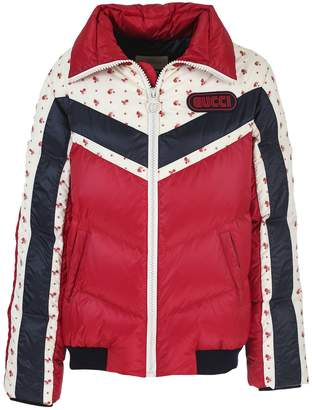 Gucci dark red quilted nylon jacket