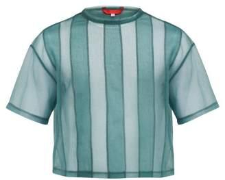 Eckhaus Latta Striped Sheer T Shirt - Mens - Blue