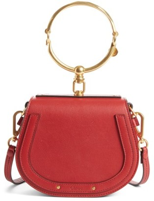 Chloe Small Nile Bracelet Leather Crossbody Bag - Red $1,550 thestylecure.com