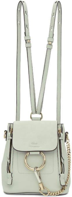 Chloe Blue Mini Faye Backpack