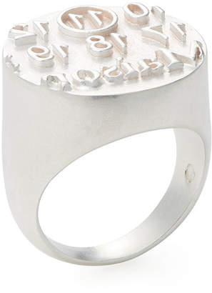 Maison Margiela Logo Stamp Band Ring