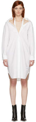Alexander Wang White Tape Shirt Dress