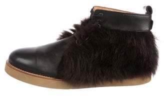 3.1 Phillip Lim Shearling-Trimmed Ankle Boots