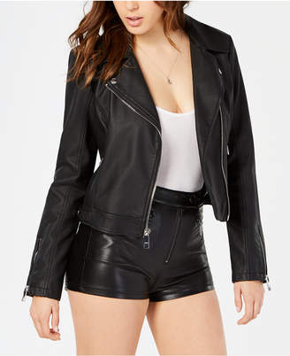 GUESS Regina Faux-Leather Moto Jacket