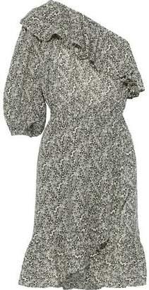 Vanessa Bruno Inne One-shoulder Ruffled Printed Gauze Dress
