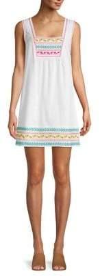 BCBGeneration Embroidered Cotton Shift Dress