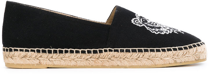 Kenzo Kenzo tiger embroidered espadrilles