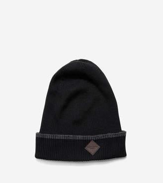 Cole Haan Cashmere Blend Tipped Rib Cuff Hat