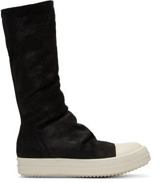 Rick Owens Black Sock High-Top Sneakers $1,695 thestylecure.com