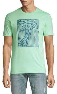 Versace Abstract Portrait Graphic Tee