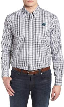 Cutter & Buck Carolina Panthers - Gilman Regular Fit Plaid Sport Shirt