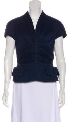 Christian Dior Ruched Cap Sleeve Jacket