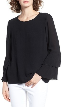 Women's Leith Tiered Ruffle Sleeve Top $59 thestylecure.com