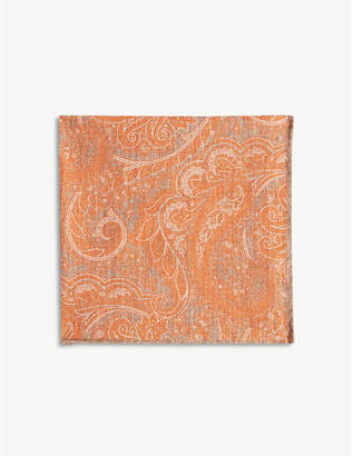 Eleventy Paisley print pocket square