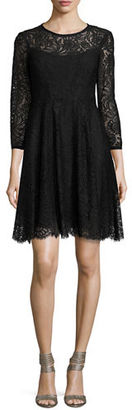 Nanette Lepore 3/4-Sleeve Lace Swing Dress $398 thestylecure.com