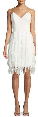 Aidan Mattox Sleeveless Feather Textured Dress