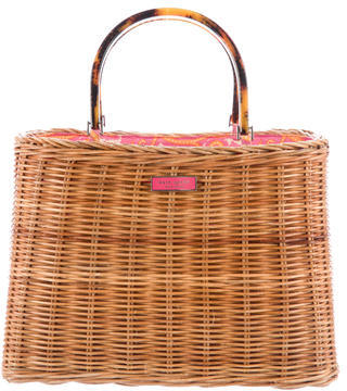 Kate Spade Kate Spade New York Woven Wicker Tote
