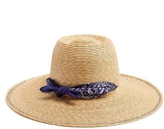 LOLA HATS Windsock bandanna-print straw hat
