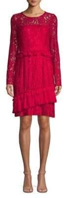 Taylor Ruffle Lace A-Line Dress