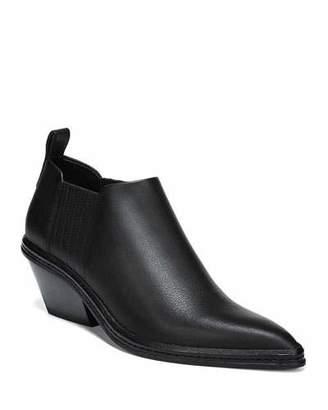 Via Spiga Farly Water-Resistant Block Heel Booties