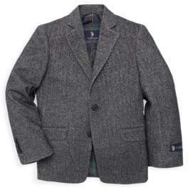 U.S. Polo Assn. Little Boy's & Boy's Textured Cotton Sportcoat