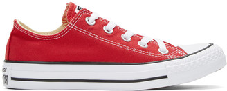 Converse Red Classic Chuck Taylor All Star OX Sneakers $50 thestylecure.com