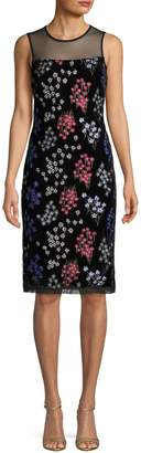 Calvin Klein Collection Illusion Floral Sheath Dress