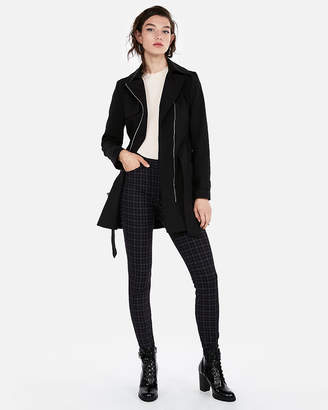 Express Short Tie Waist Trench Coat