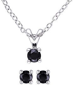 Black Diamond Affinity Diamond Jewelry Affinity Sterling 1/2cttw Earring