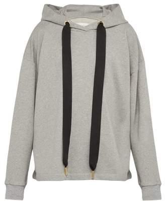 Marques Almeida Marques'almeida - Relaxed Cotton Jersey Hooded Sweatshirt - Mens - Grey