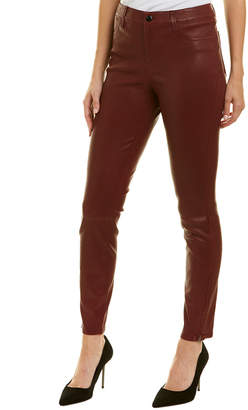 J Brand Oxblood Leather Skinny Leg