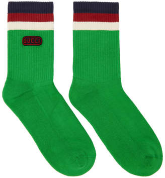 Gucci Green Logo Socks