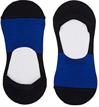 Barneys New York Men's Colorblocked Stretch-Cotton No-Show Socks $22 thestylecure.com