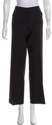 Theory Mid-Rise Wool Wide-Leg Pants