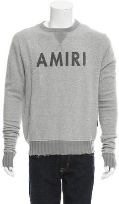 Amiri Distressed Logo Sweatshirt w/ Tags