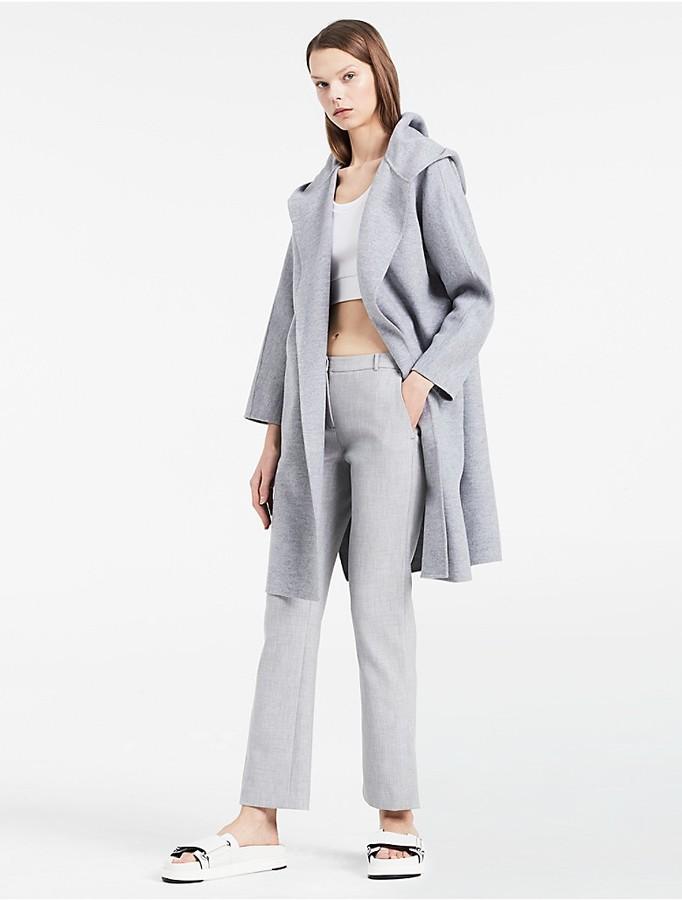 Calvin KleinPlatinum Lightweight Wool Cashmere Belted Coat