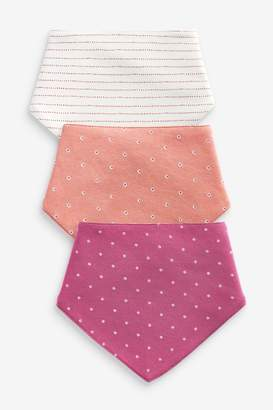Next Girls Rust 3 Pack Dribble Bibs - Red