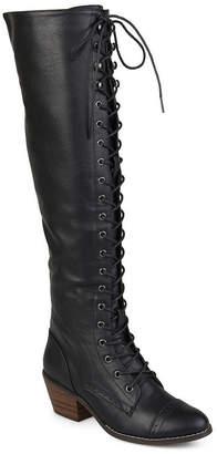 bd4553ae8e0f Journee Collection Womens Bazel Over the Knee Boots Block Heel Zip